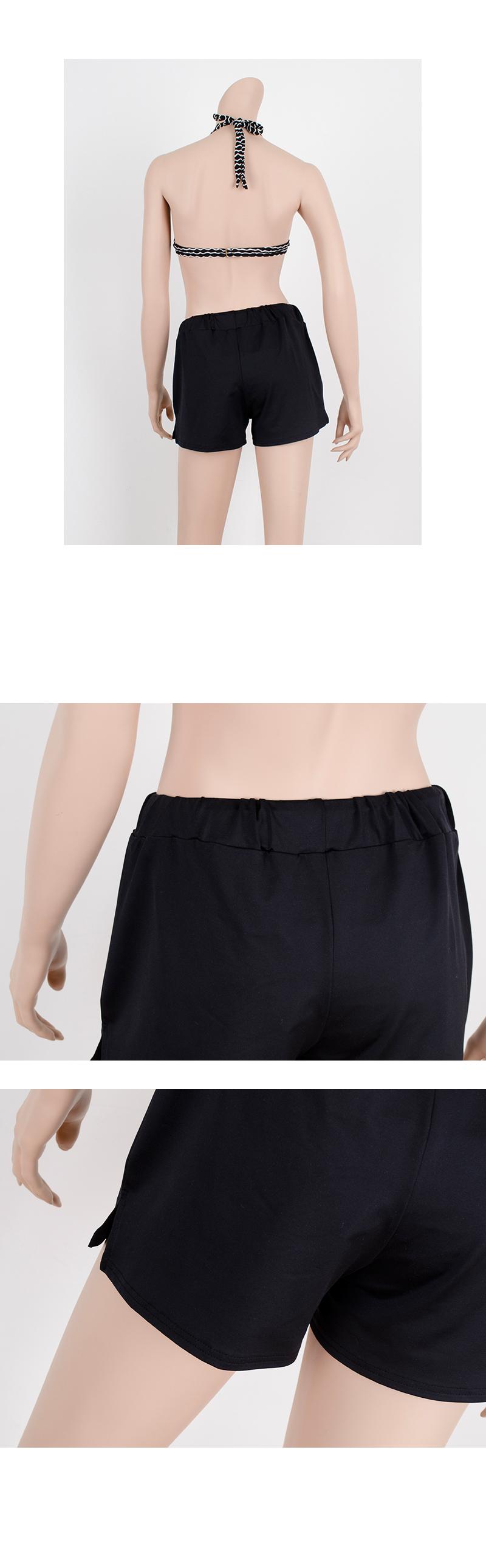 P1500 심플 블랙 워터 반바지(M.L.XL) - 쿠키세븐, 23,840원, 여성비치웨어, 래쉬가드