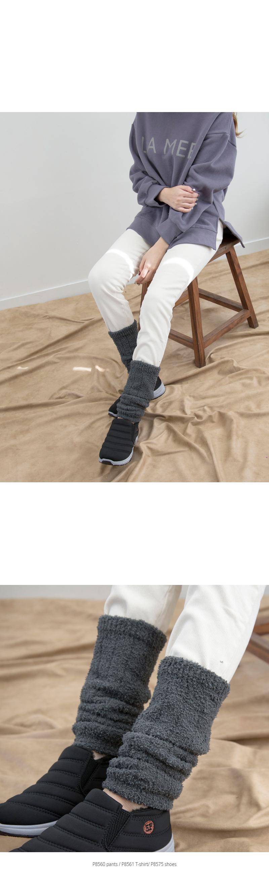 P8562 보들 극세사 레그워머 - 제이앤씨, 8,640원, 귀마개/워머/마스크, 풋워머